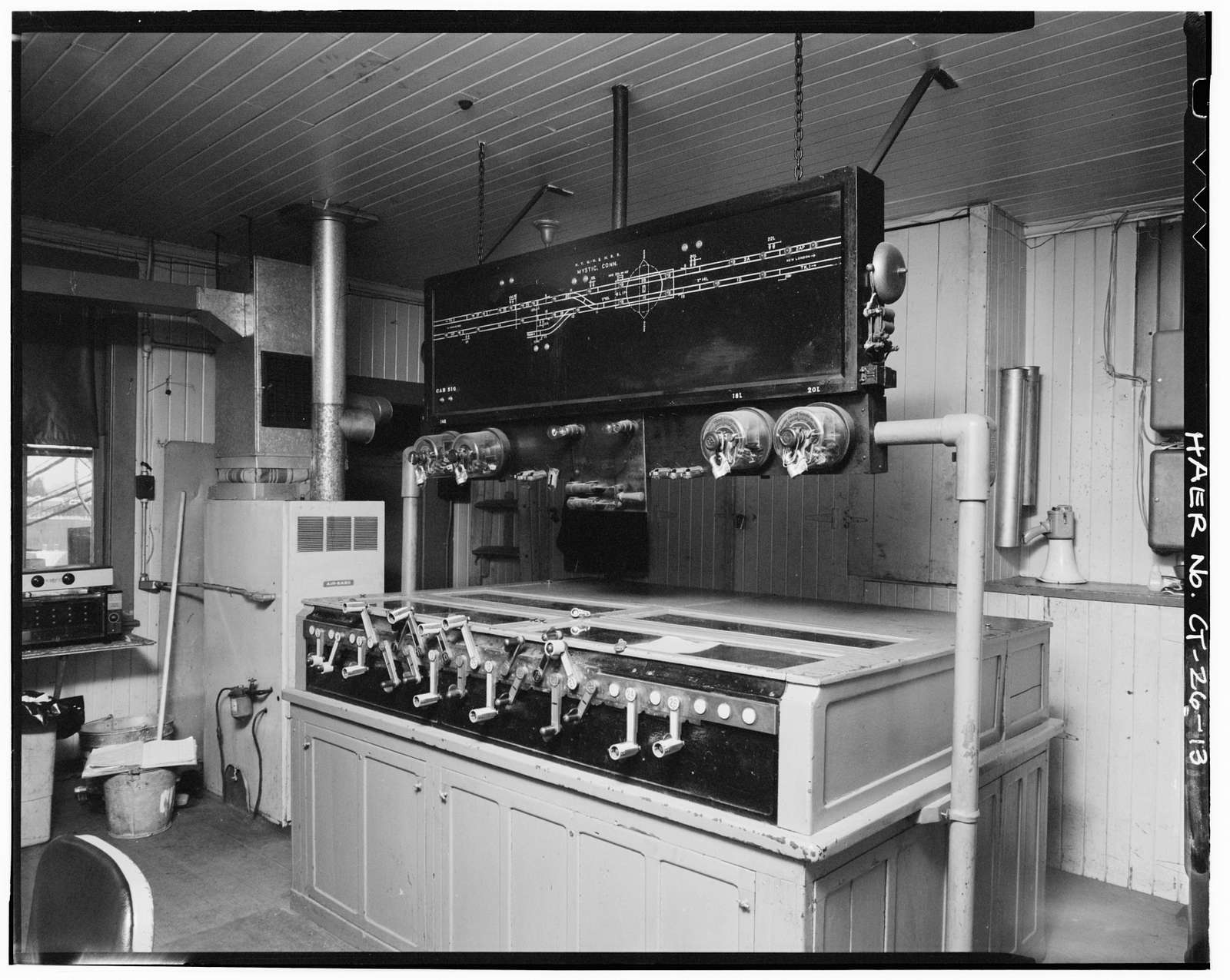New York, New Haven & Hartford Railroad, Mystic River Bridge, Spanning Mystic River between Groton & Stonington, Groton, New London County, CT