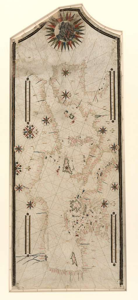 [Portolan chart of the Mediterranean and connecting seas].