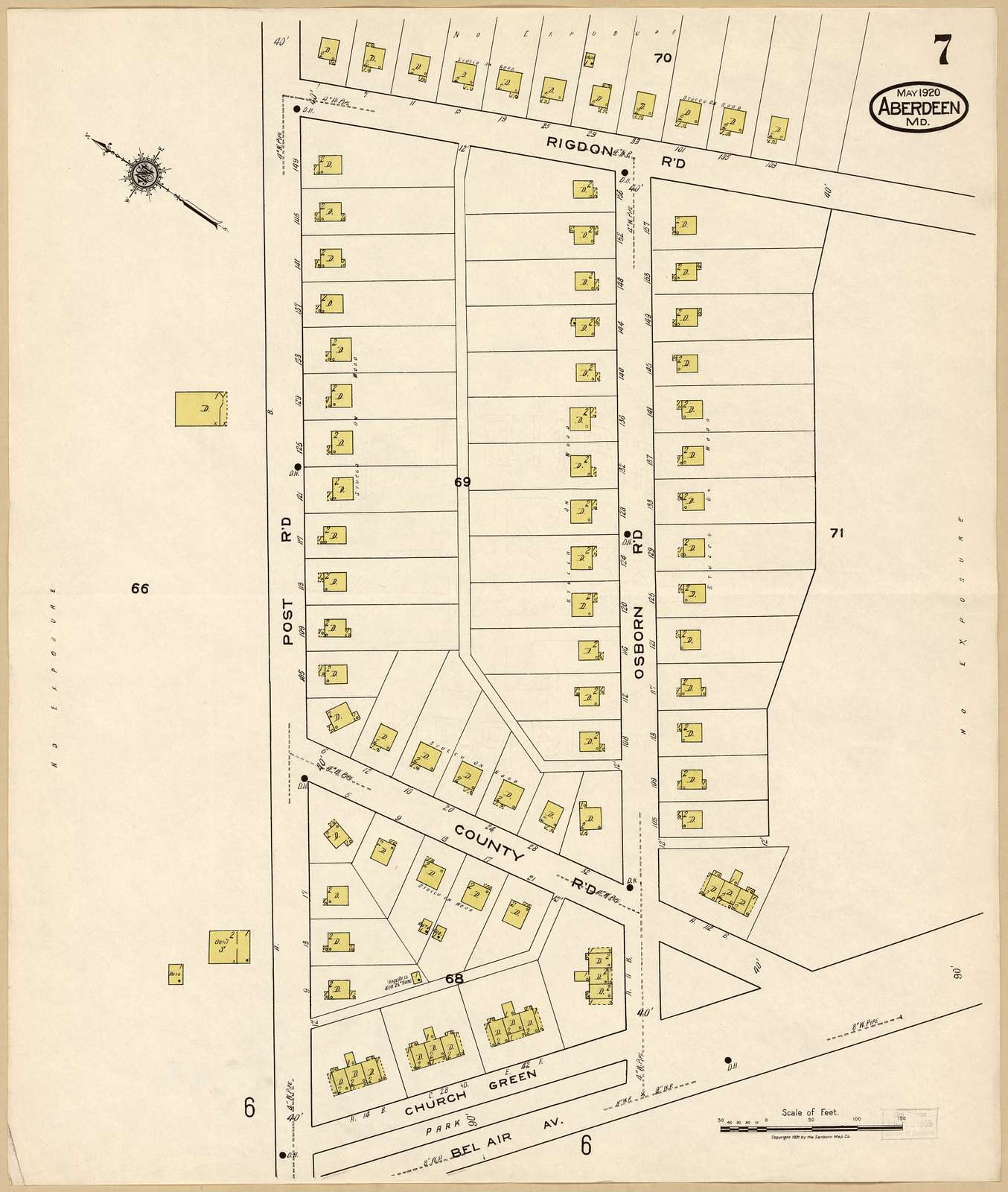Sanborn Fire Insurance Map from Aberdeen, Harford County, Maryland.