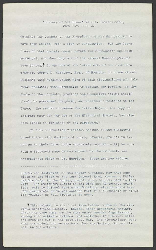 William Henry Harrison Papers: Series 4, Printed Matter, 1815-1922; Subseries C, Newspaper Clippings and Other Printed Matter, 1818-1922; Typescripts