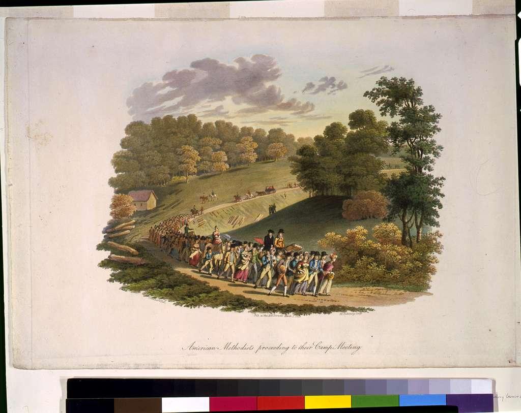 American methodists proceeding to their camp meeting / J. Milbert del. ; M. Dubourg sculp.
