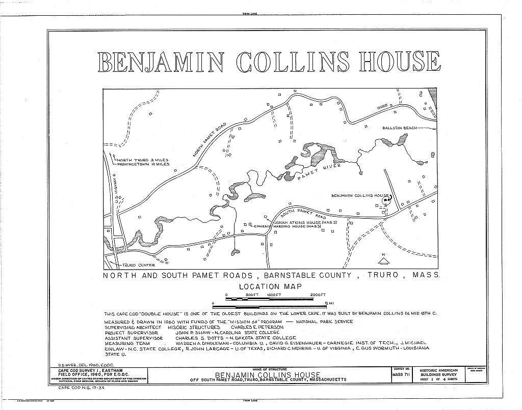Benjamin Collins House, South Pamet Road, Truro, Barnstable County, MA