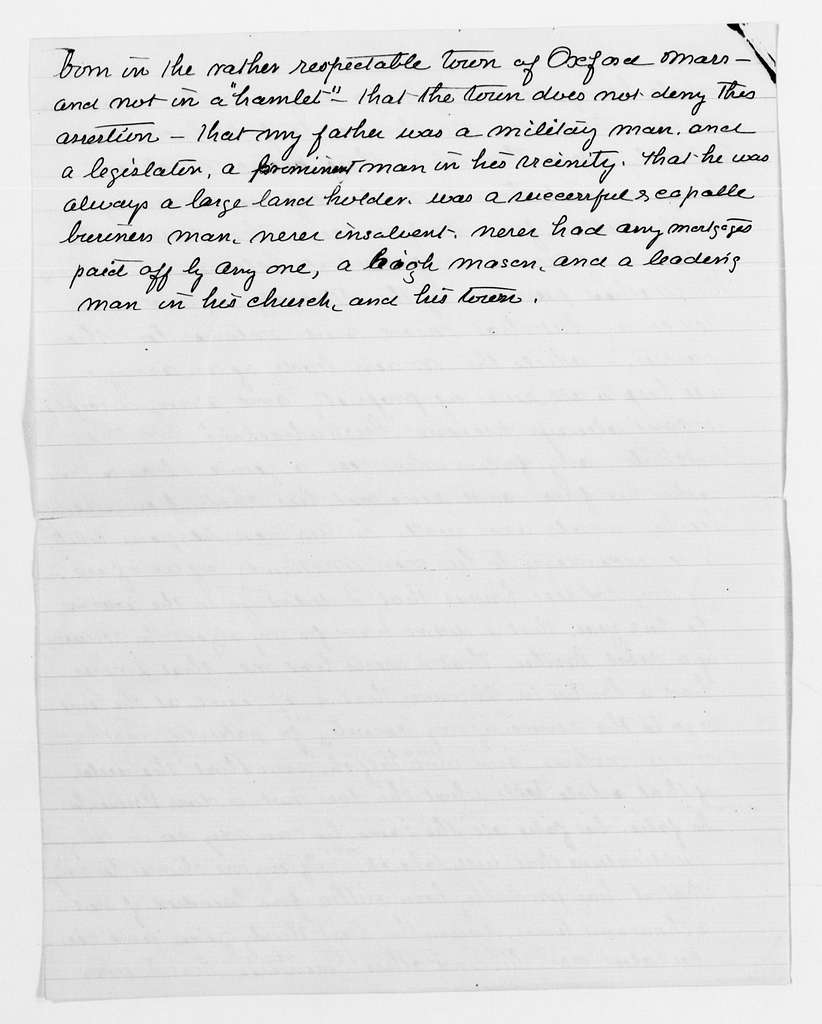 Clara Barton Papers: Subject File, 1861-1952; Williams, Sophia Royes, Review of Reviewsarticle, 1894, Mar.