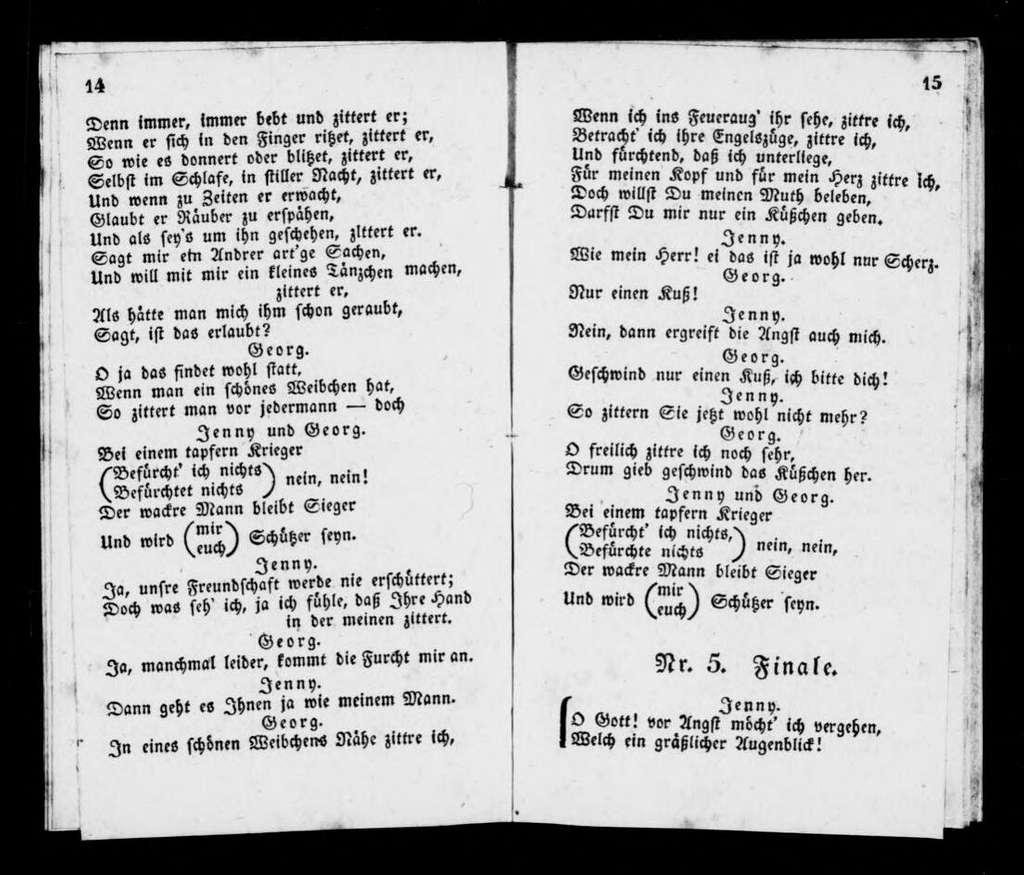 Dame blanche. Libretto. German
