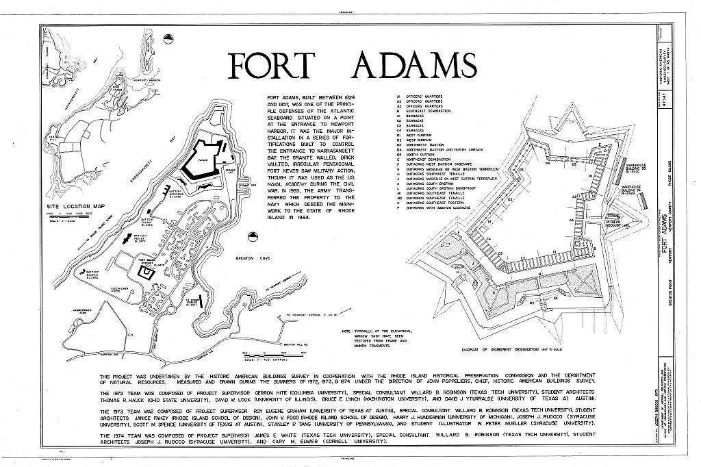 Fort Adams, Newport Neck, Newport, Newport County, RI