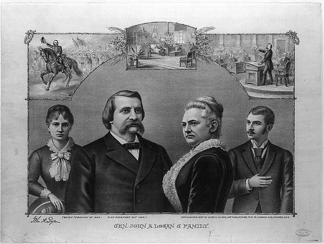 Gen. John A. Logan & family