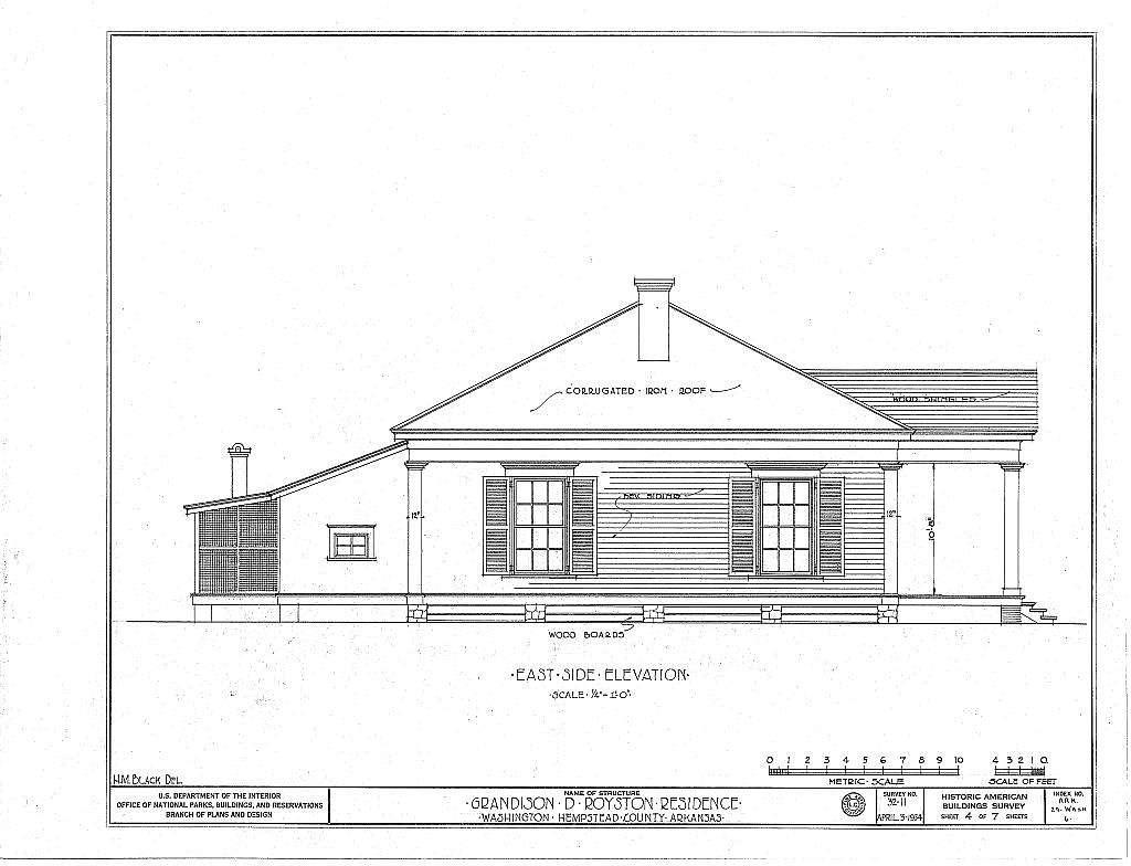 Grandison D. Royston House, State Highway 4, Washington, Hempstead County, AR