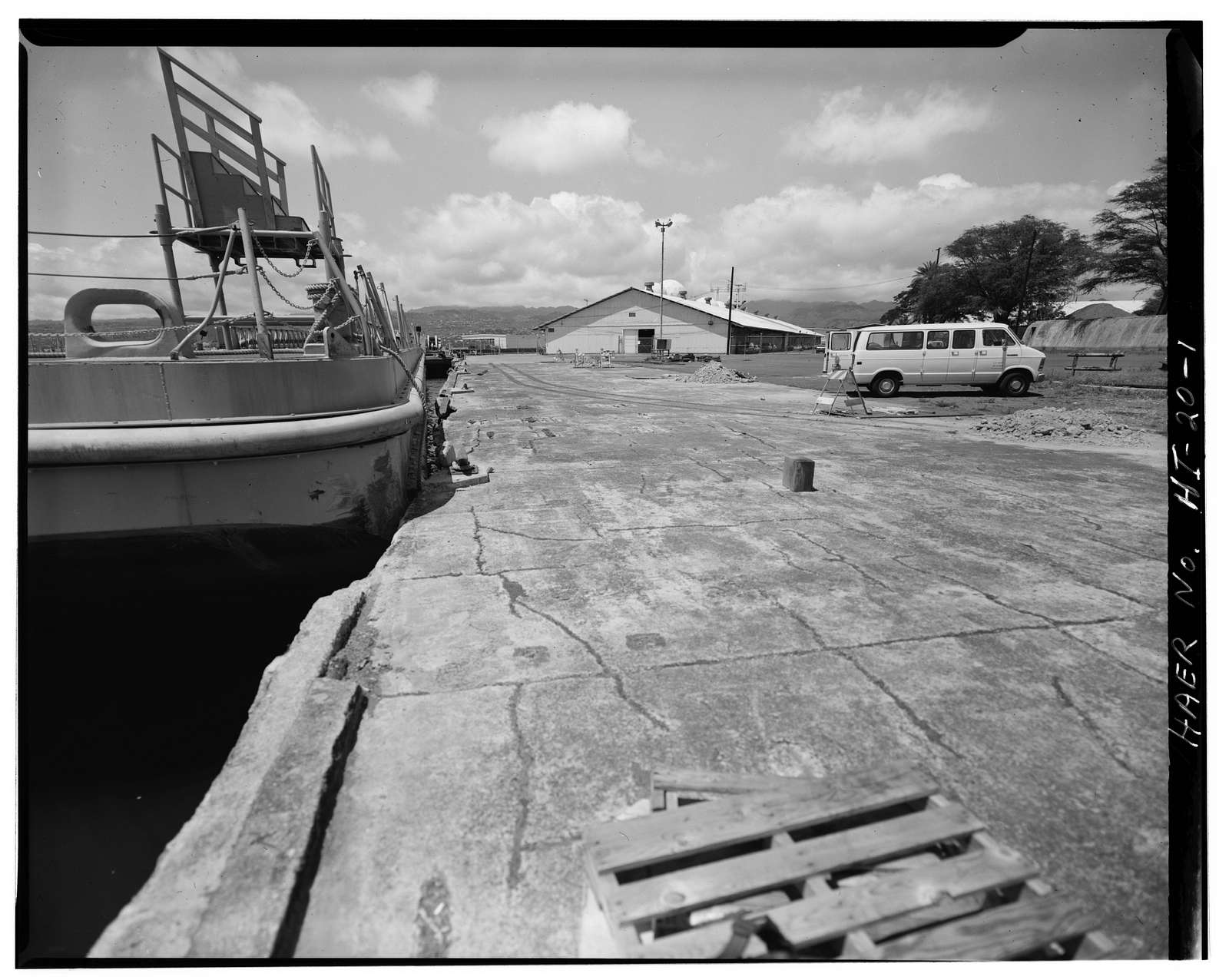 U.S. Naval Base, Pearl Harbor, Berthing Wharf K-1, Kuahua Peninsula, west of Laffey Street, Pearl City, Honolulu County, HI